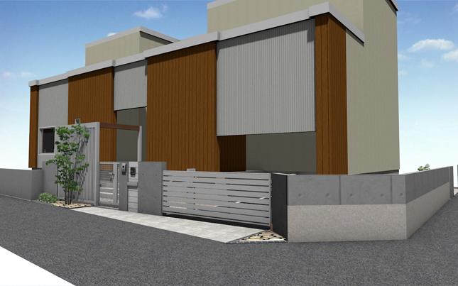 札幌市厚別区 K様邸エクステリア工事の提案図面1